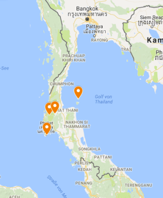 Thailand in 3 Wochen