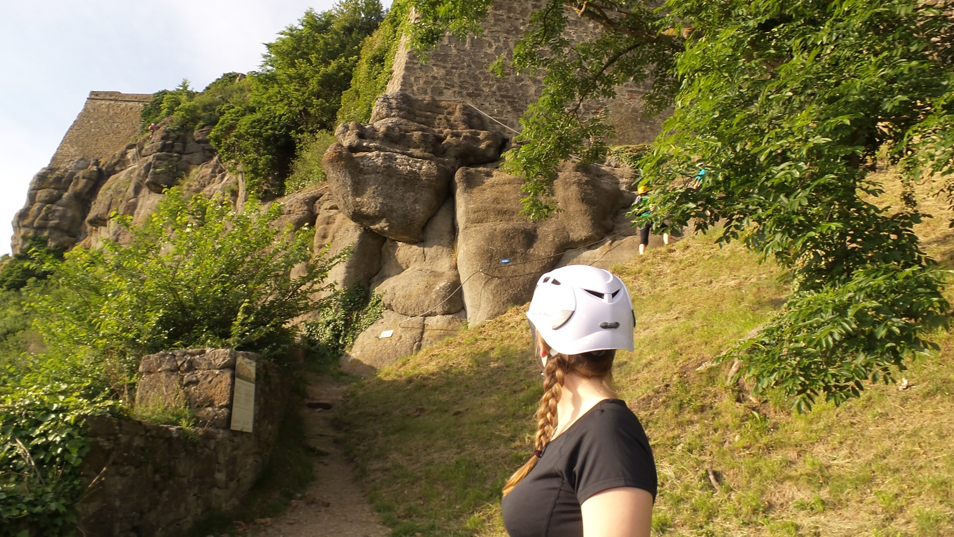 Einstieg Leopold Klettersteig Riegersburg