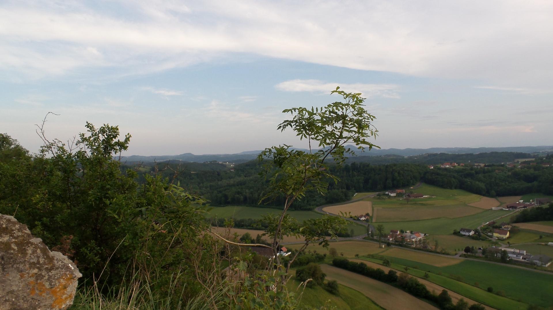 Blick vom Leopold Klettersteig Riegersburg