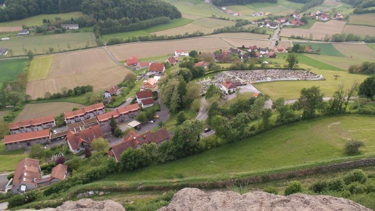 Blick ins Tal vom Leopold Klettersteig