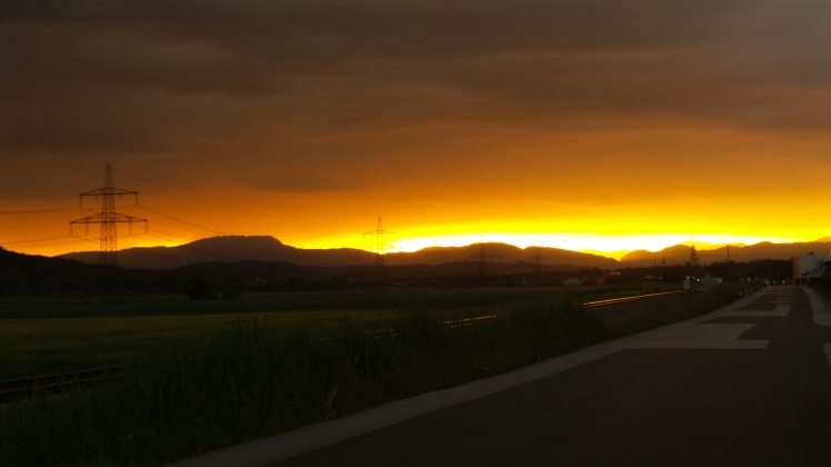 brennender Himmel in der Oststeiermark