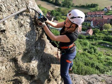 klettern am Leopold Klettersteig