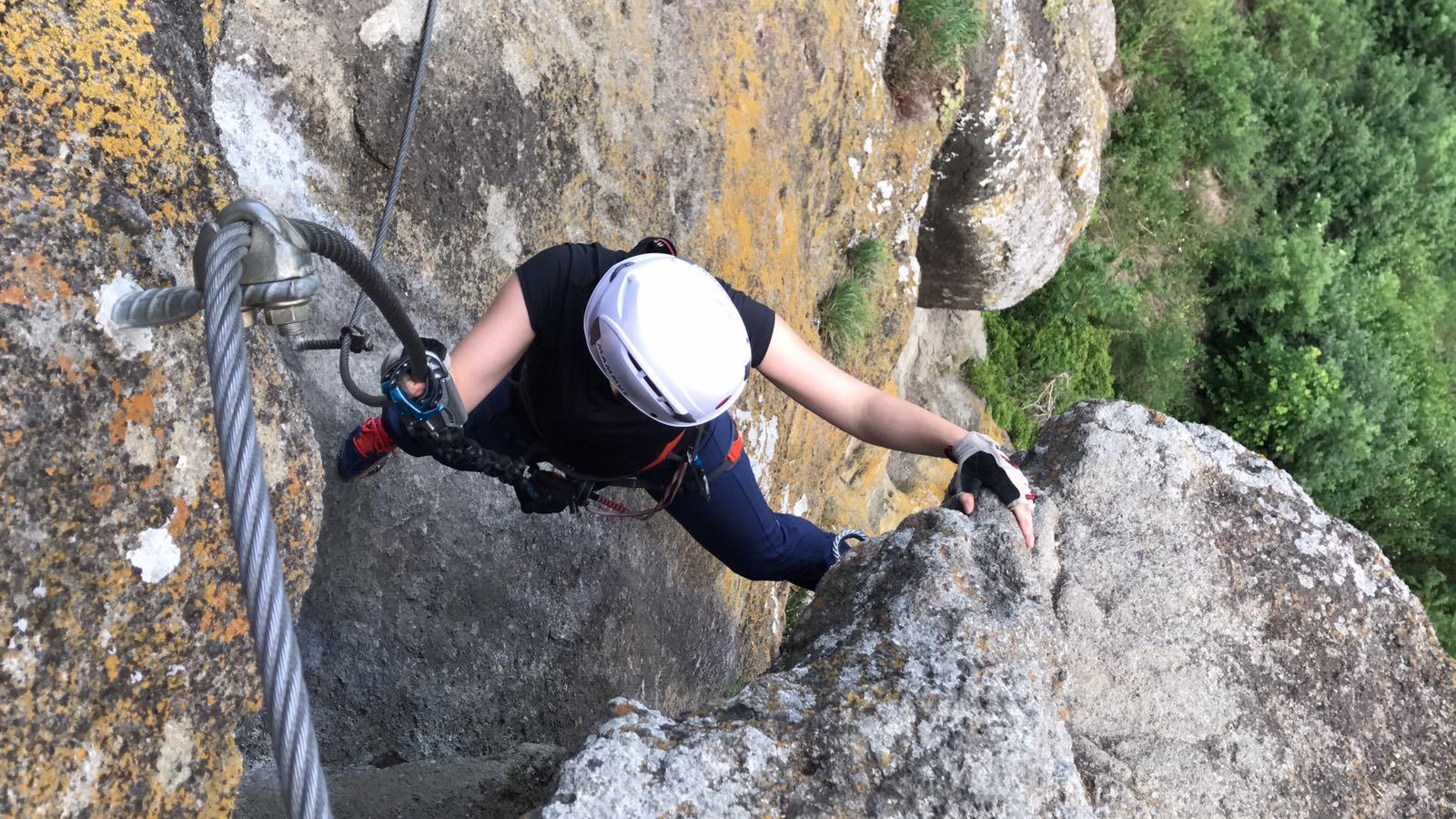 klettern am Leopold Klettersteig Riegersburg