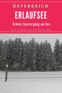 Schnee-Spaziergang am Erlaufsee in Niederösterreich