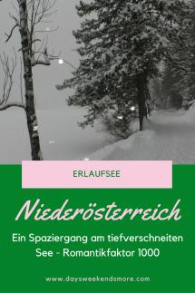 Spaziergang am Erlaufsee - Winter, Schnee und Romantik