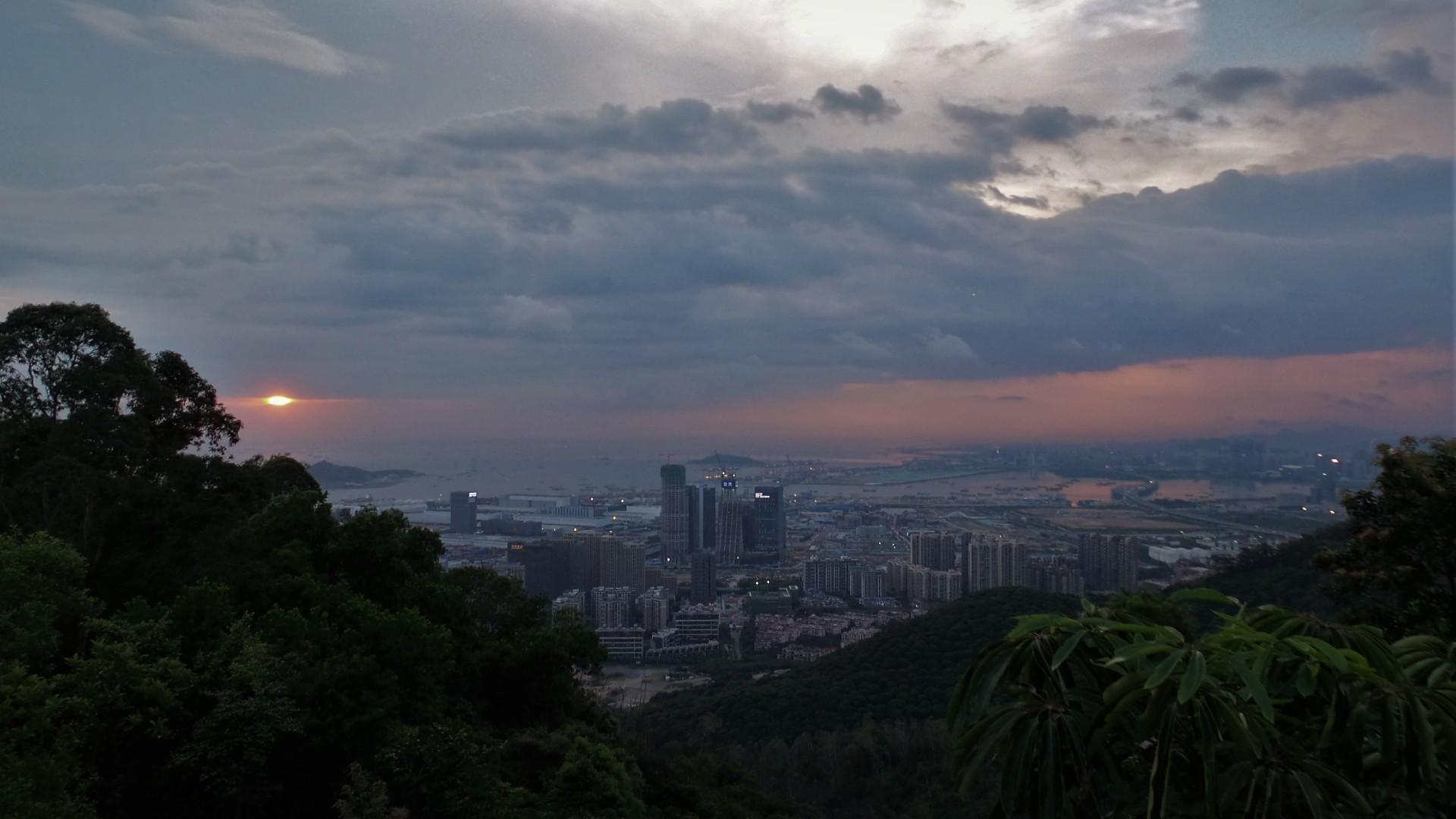 Danan Moutain, Nanshan Park - Sonnenuntergang