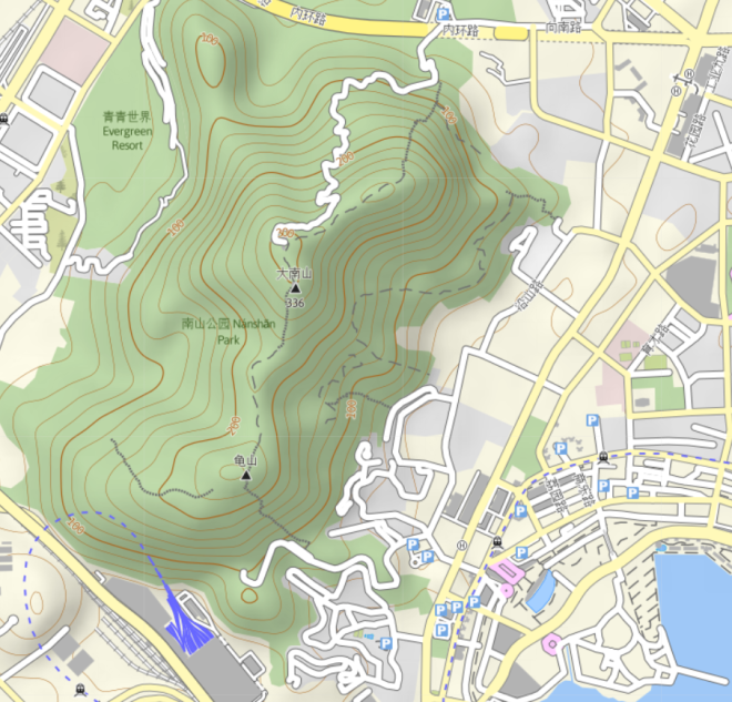 Danan Mountain Map