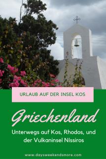 Entspannen und Entdecken auf der Insel Kos + Ausflüge nach Rodos & Nissiros