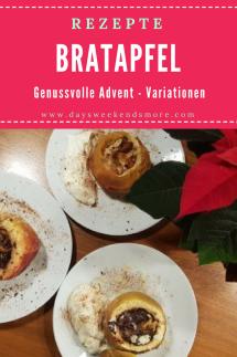 Bratapfel Variationen - Adventzeit ist Genusszeit