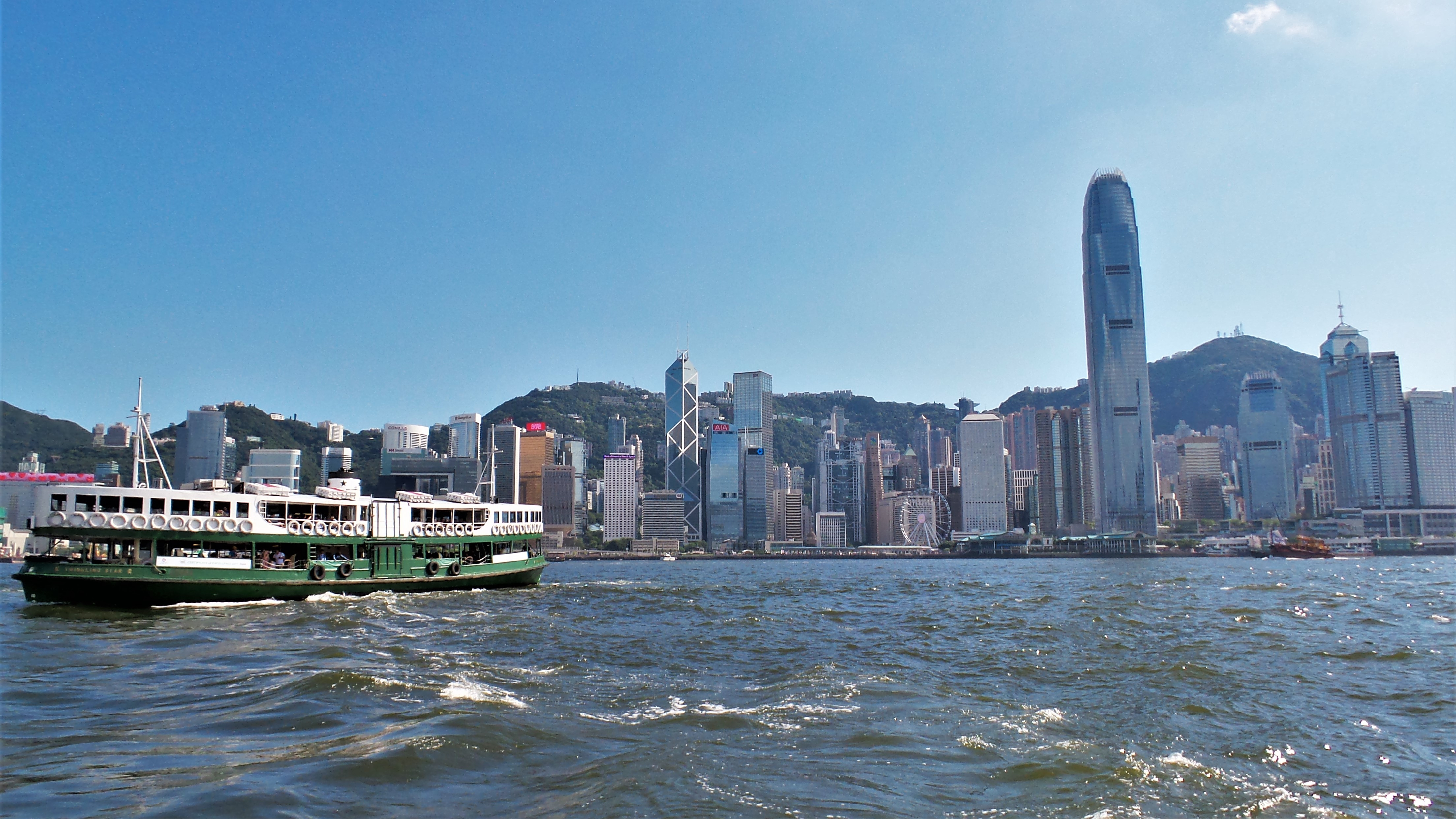 Star Ferry von Kwoloon nach Hong Kong Island