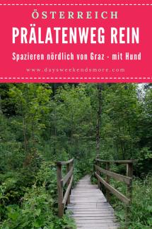 Der Prälatenweg in Rein - ein schattiger Spaziergang nördlich von Graz. Auch mit Welpen und dem Kinderwagen geeignet. Erfrischend & kühl.