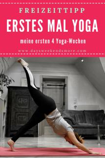 Freizeittipp für Zuhause_ Yoga ausprobieren! Wie es mir in meinen ersten 4 Wochen ergangen ist verrate ich hier.