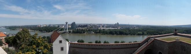 Burg Bratislava Aussicht