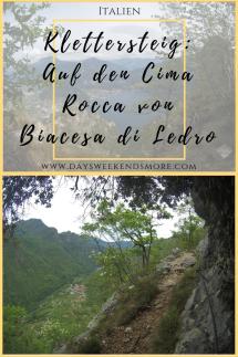 Auf den Cima Rocca - Leichter Klettersteig in Trentino - Gardasee, Ledrotal