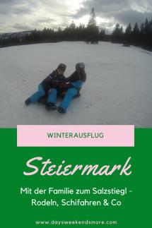 Winterausflug auf den Salzstiegl mit der ganzen Familie - Schifahren, Rodeln, Spazieren, Wandern, Langlaufen, Essen...