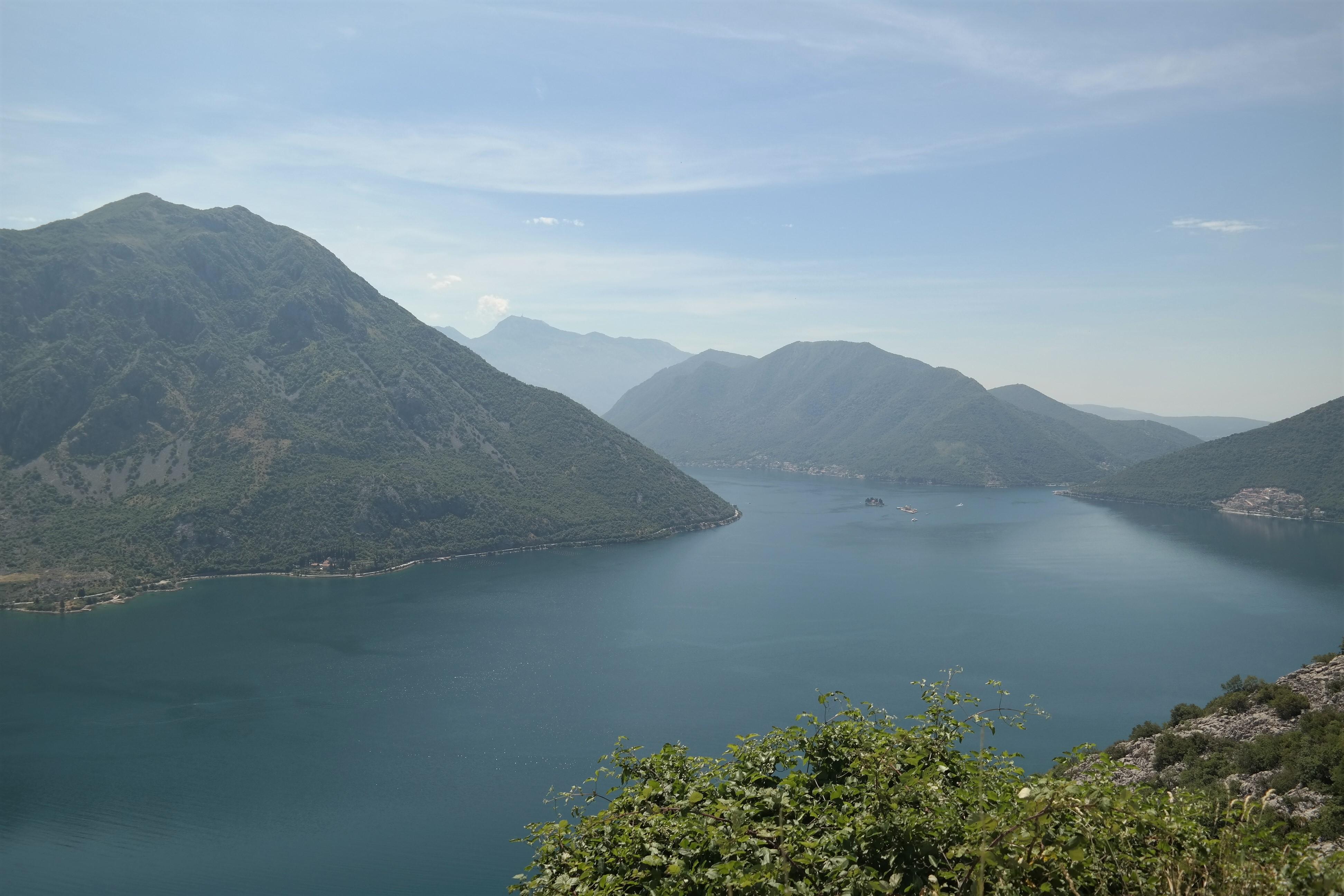 Blick auf die Bucht von Kotor von der P11