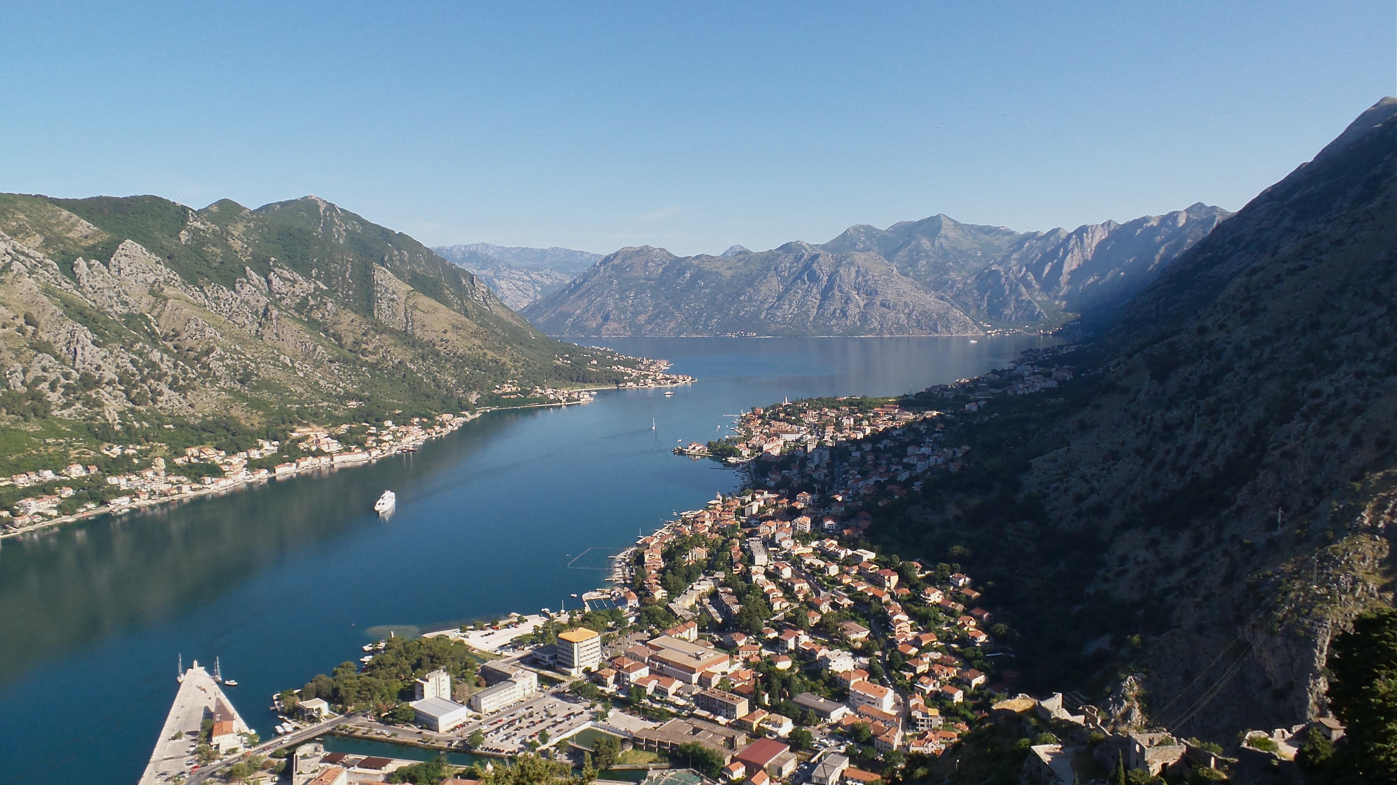 Blick von der Festung von Kotor