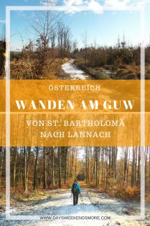 Wandern am Grazer Umland Weg - Bericht, Fotos und Infos von St. Bartholomä nach Lannach
