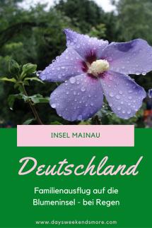Insel Mainau - Familienausflug bei Regen