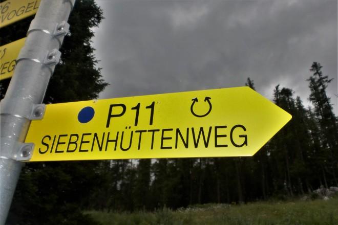 Siebenhüttenweg auf der Petzen