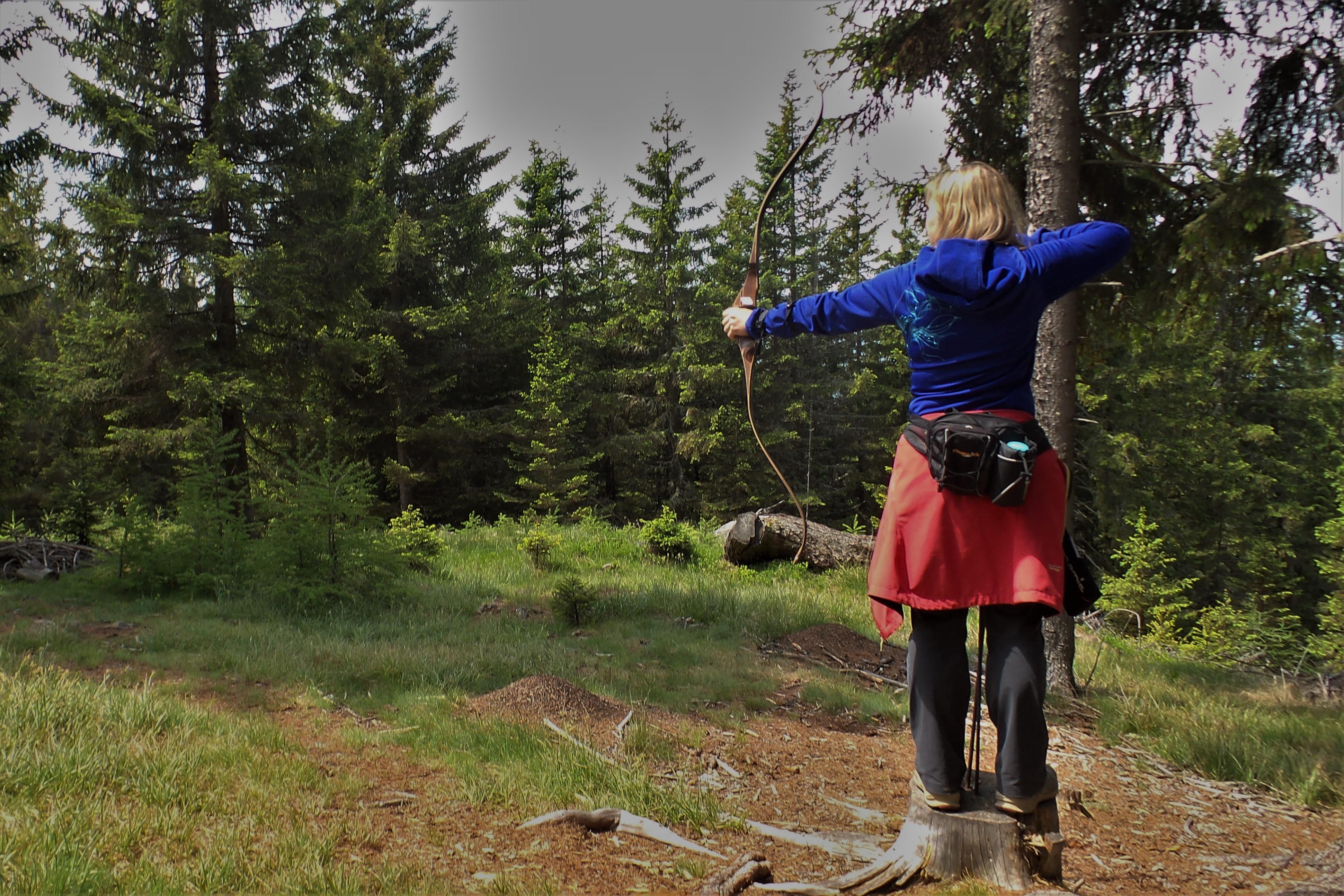 Bogenschießen auf Godi's Bogenparcours Zirbitzkogel