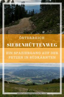 Der Siebenhüttenweg auf der Petzen in Südkärnten. Ein kleiner und leichter Rundweg - auch für Kinder geeignet.