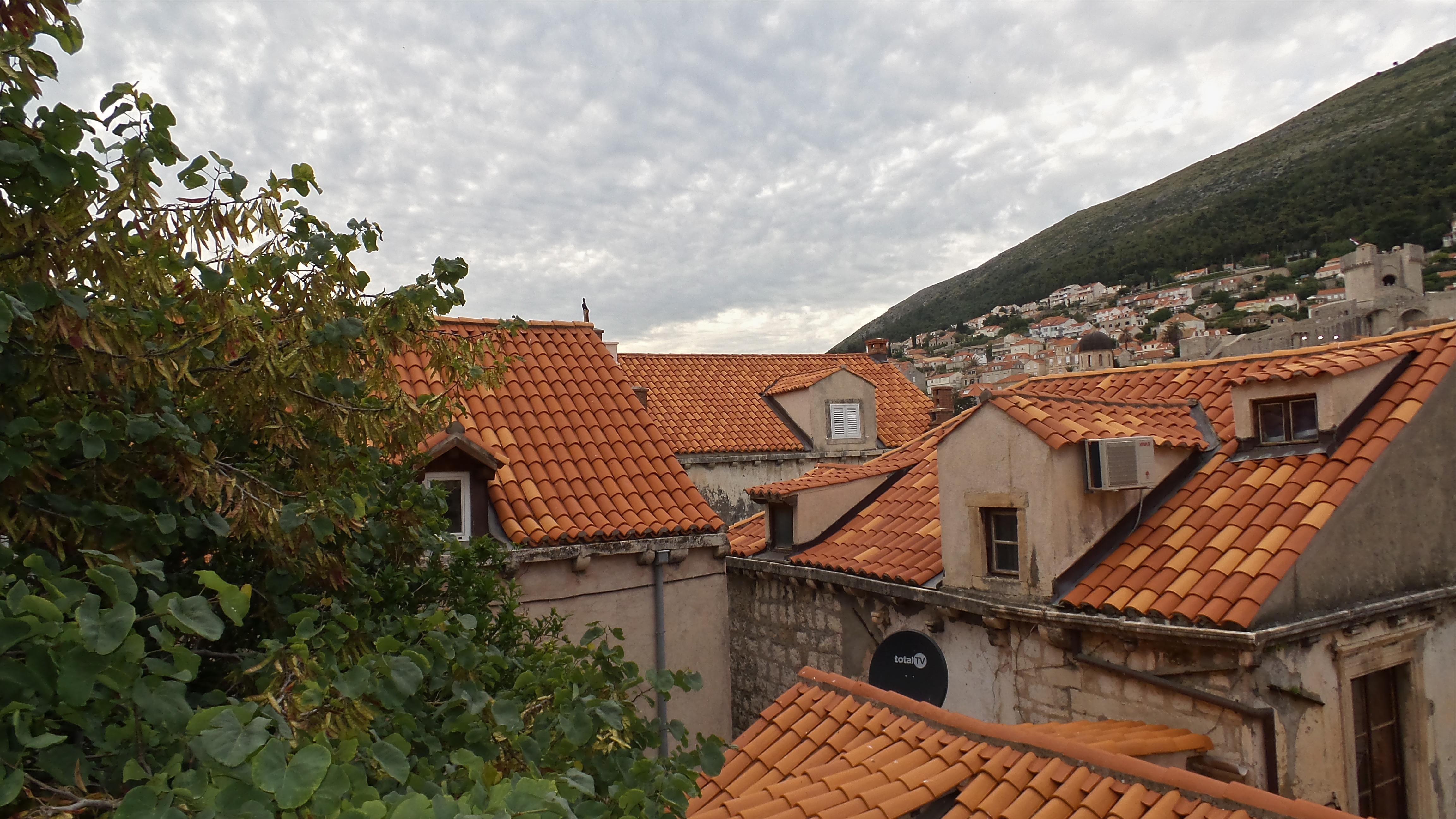 Blick aus dem Fenster über die Dächer der Altstadt