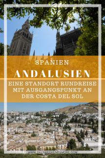 Andalusien Rundreise mit Standpunkt an der Costa del Sol. Zusammenfassung der 5 Tagesausflüge in Andalusien.