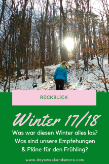 Der Winter 20172018 auf Days Weekends & More - Yoga, Outdoor & ein neues Blogthema