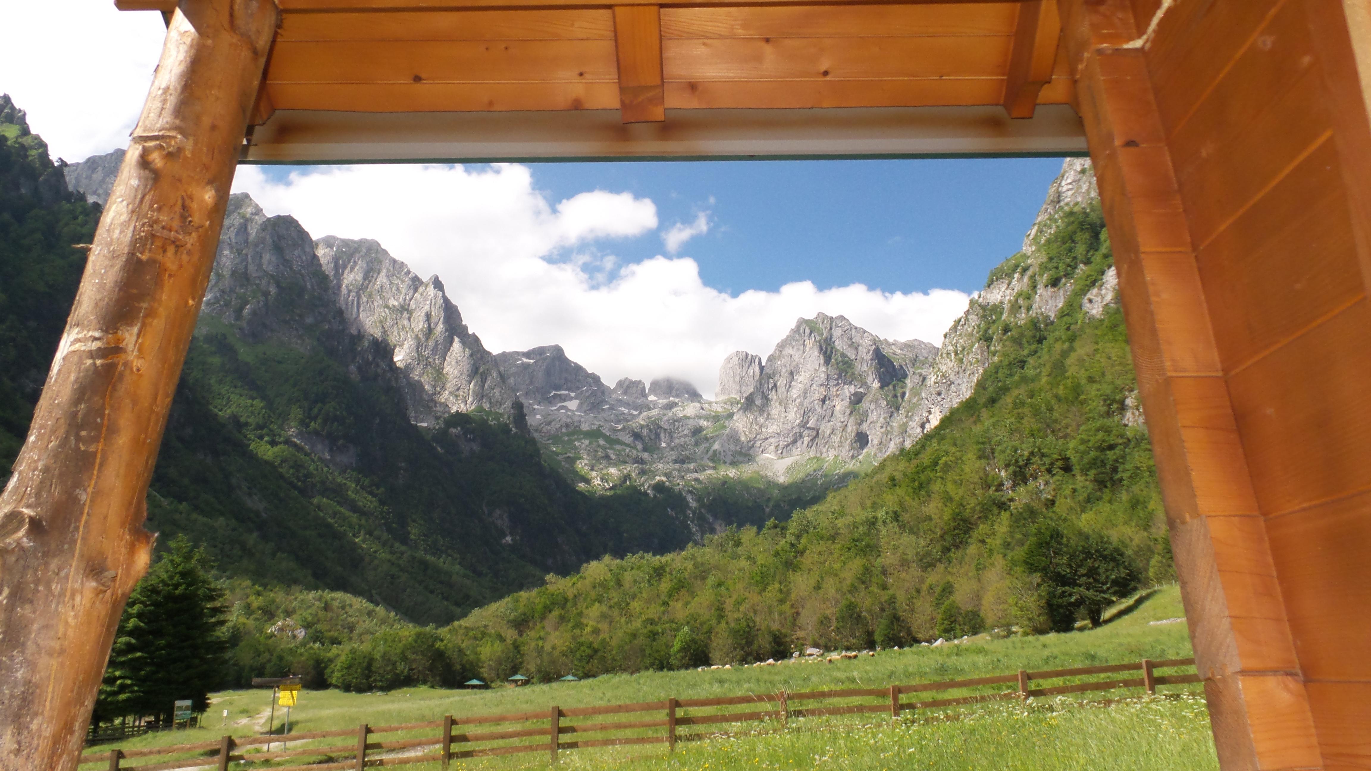 Ausblick Unterkunft Prokletije Nationalpark