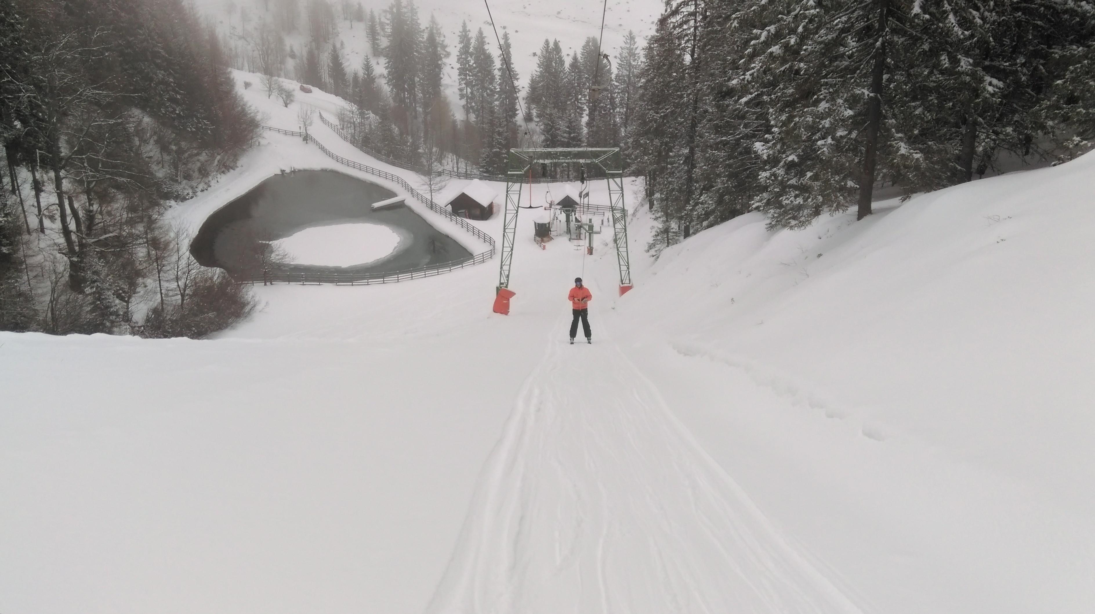 Schifahren am Salzstiegl