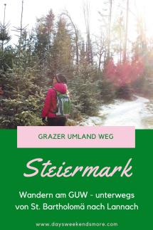 Wandern am Grazer Umland Weg - Bericht, Fotos und genaue Infos -von St. Bartholomä nach Lannach