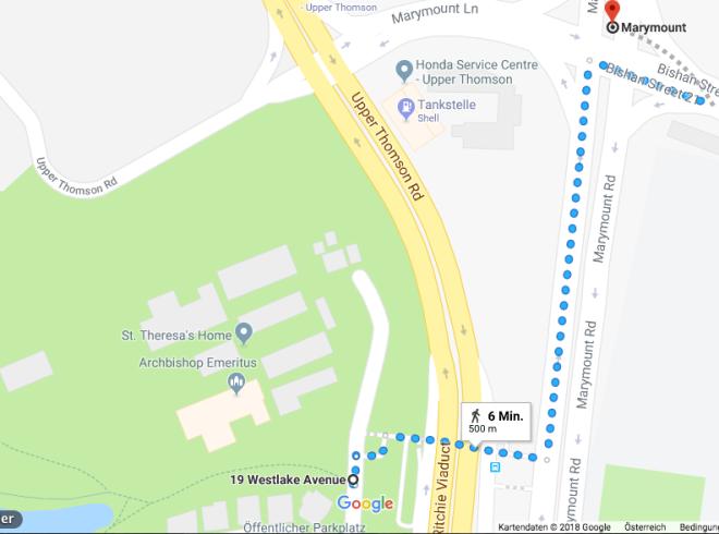 Fußweg MRT - Nature Trail Singapur