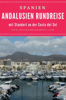 Andalusien Rundreise mit Standpunkt an der Costa del Sol. 5 Tagesausflüge in Andalusien. Sevilla, Granada, Ronda, Málaga und Tanger.