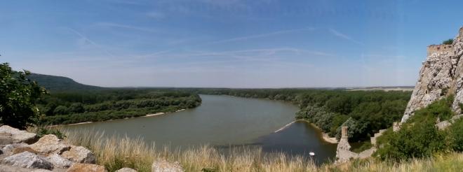 Burg Devín Ausblick Donau
