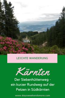 Der Siebenhüttenweg auf der Petzen in Kärnten. Ein kleiner und leichter Rundweg - auch für Kinder geeignet.
