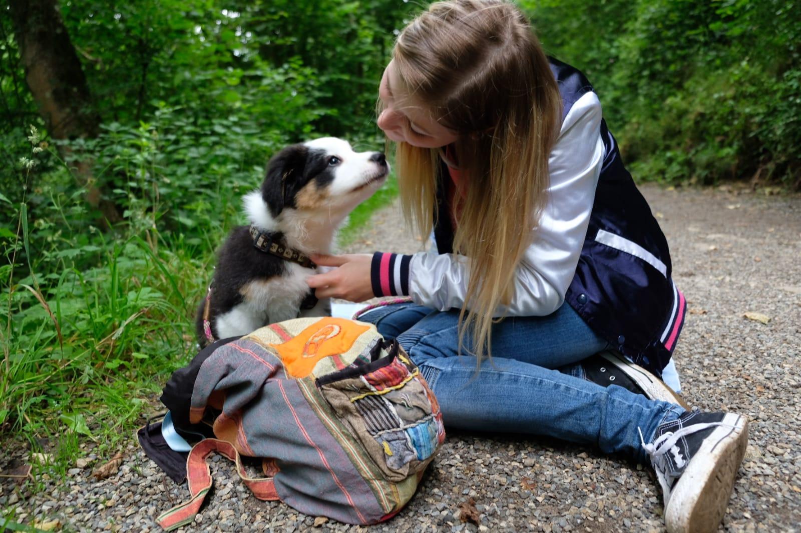 Thalersee Rundweg mit Hund