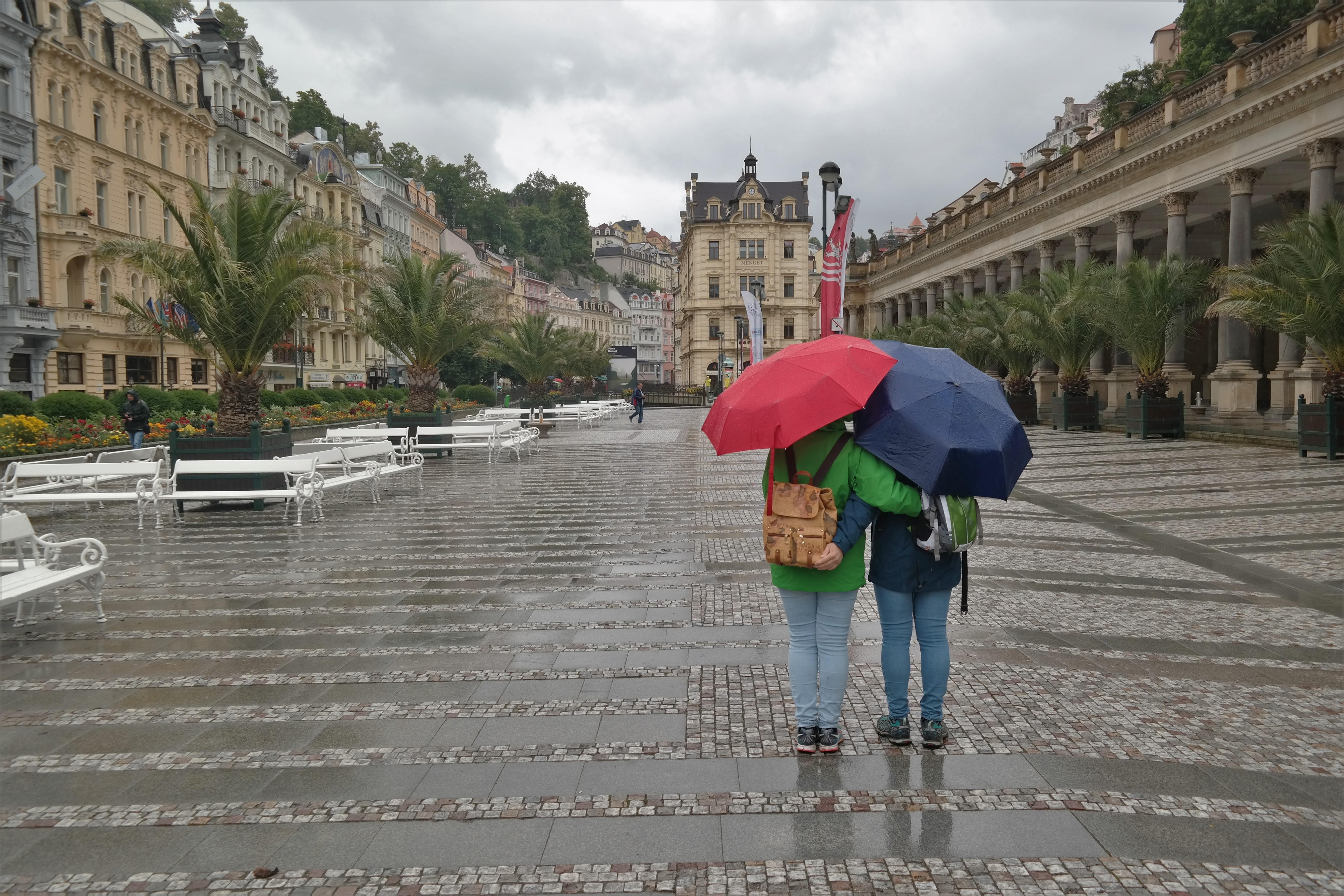Karlsbad bei Regen