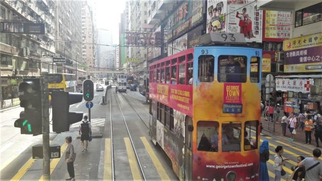 Straßenbahnfahrt Hongkong