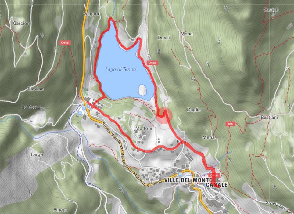vom Tennosee nach Canale di Tenno