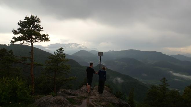 Ausblick Schneeberg von der Hohen Wand