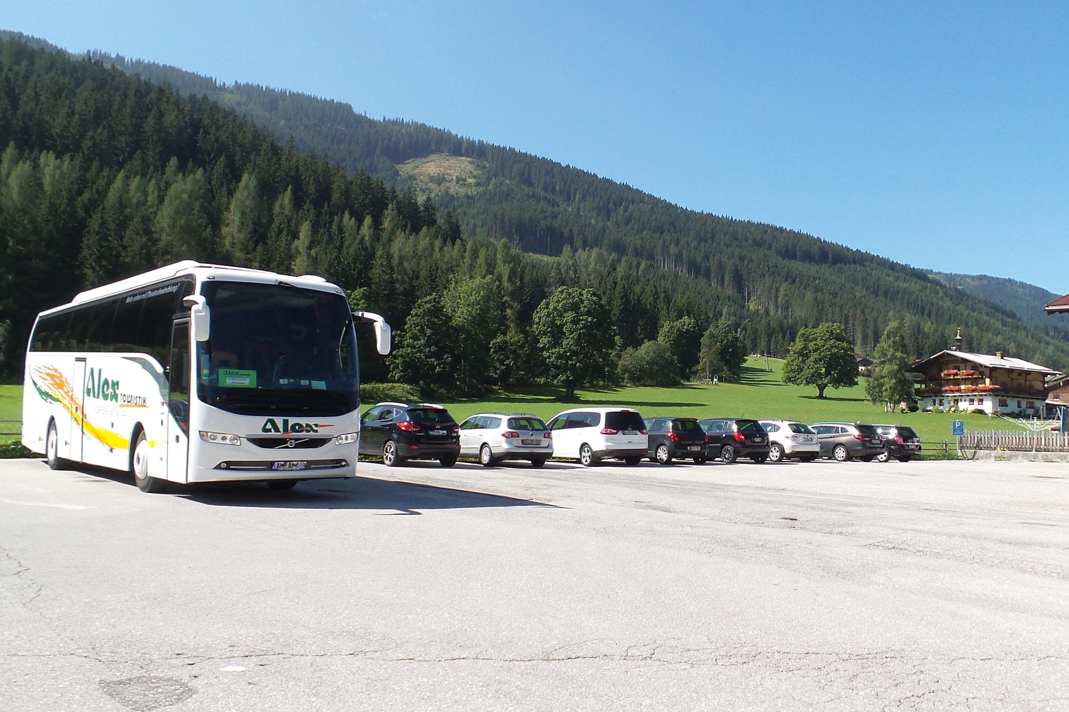 Parkplatz Filzmoos Wanderbus
