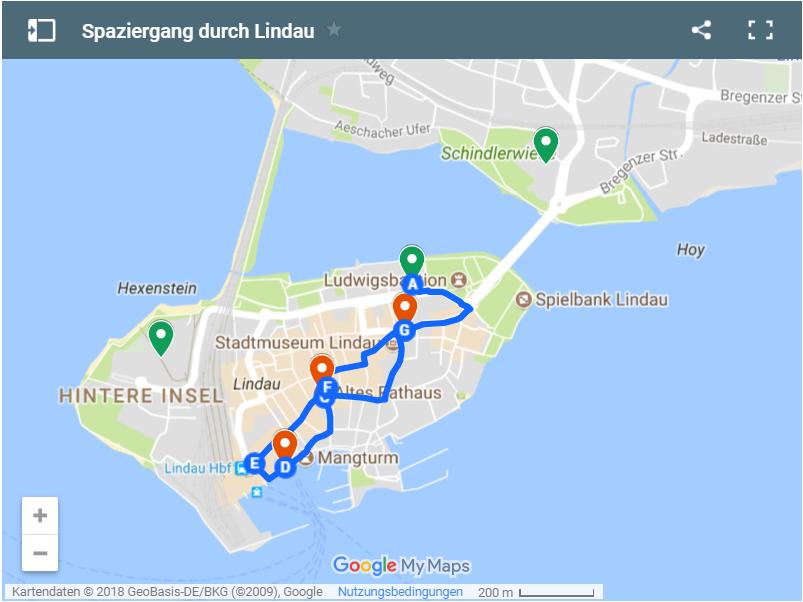 Karte Lindau Spaziergang