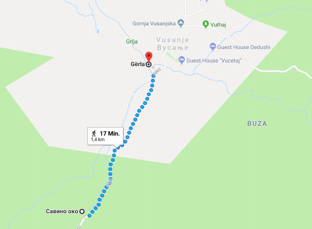 Grlja Wasserfall - Oko Quelle