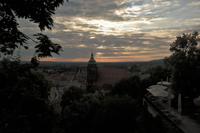 Sonnenuntergang in Prina