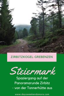 Naturpark Zirbitzkogel-Grebenzen. Die kurze Panoramarunde Zirbitz auf der Südseite des Zirbitzkogels.